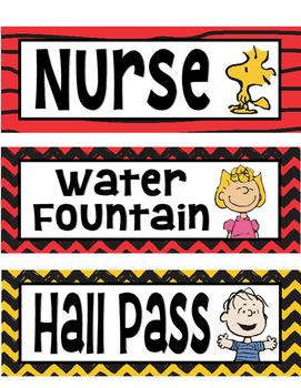 Peanuts Snoopy Hall Passes