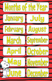 Peanuts Snoopy Months of the Year 11x17