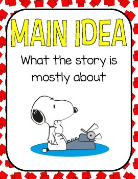 Peanuts Snoopy Reading Elements Posters