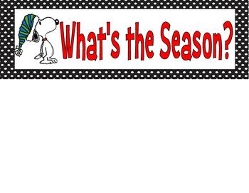 Peanuts Snoopy Season Wheel