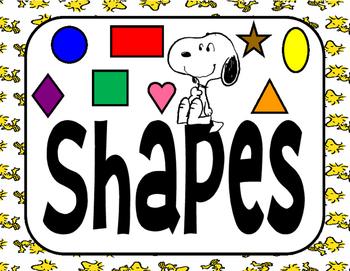 Peanuts Snoopy Shapes Header Poster