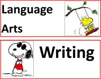 Peanuts Snoopy Subject Headers