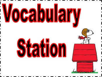 Peanuts Snoopy stations signs 2