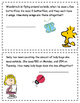 Peanuts Spring Time Math Word Problems