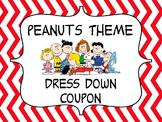 Peanuts Theme Dress Down Coupon