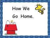 Peanuts Theme Going Home Chart