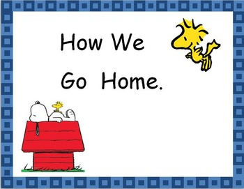 Peanuts Theme Going Home Chart