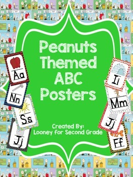 Peanuts Themed ABC Posters - Large