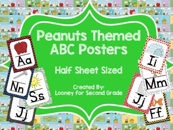 Peanuts Themed ABC Posters - Small