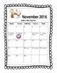 Peanuts Themed Behavior Calendar
