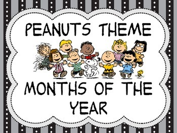 Peanuts Theme Calendar Months of the Year