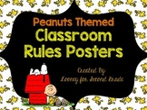 Peanuts Themed Classroom Rules Posters