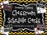Peanuts Themed Classroom Schedule Cards