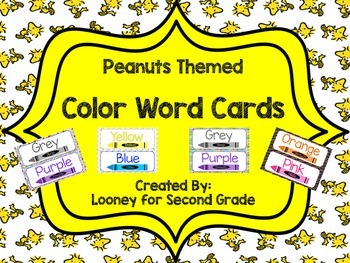 Peanuts Themed Color Word Poster