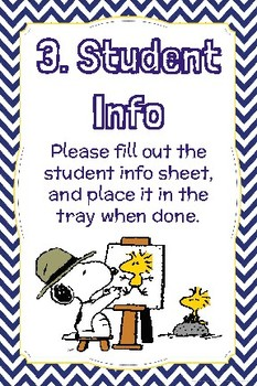 Charlie Brown Themed Open House Station Signs
