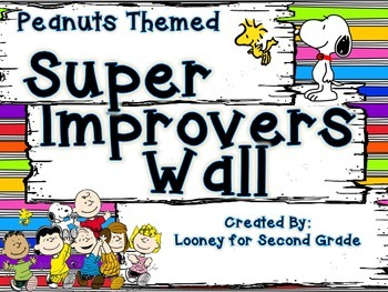 Peanuts Themed Super Improvers Wall
