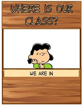 Peanuts Themed Where Is Our Class?