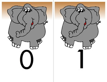 Peanuts for Elephants   Ten Frame - Counting 0-10 Mats - Learning Center Kit