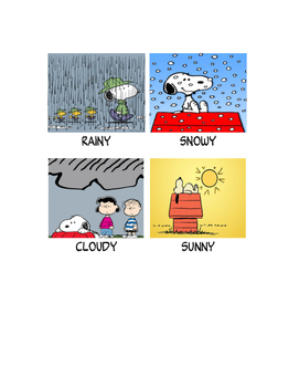 Peanuts gang theme weather visuals