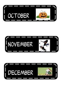 Peanuts months of the year