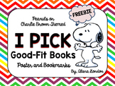 Peanuts or Charlie Brown Themed I PICK Good-Fit Books FREEBIE