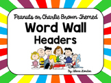 Peanuts or Charlie Brown Themed Word Wall Headers