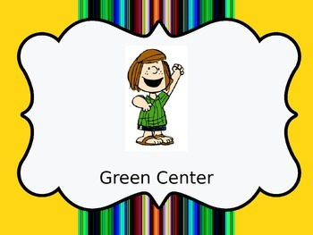 Peanuts snoopy gang Color coded Center labels