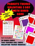 Peanuts themed Valentine's Day Math BINGO