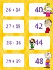 Peanuts themed double digit addition with regrouping game