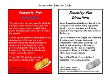 Peanutty Fun Writing Activities