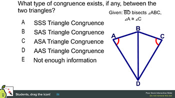 Pear Deck: ASA and AAS Triangle Congruence