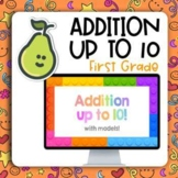 Pear Deck™ First Grade Addition to 10 Math With Models Distance Learning