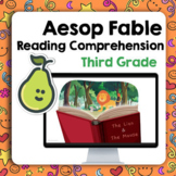 Pear Deck™  Reading Comprehension Fables Aesop 3rd/4th Grade Distance Learning