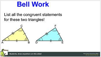 Pear Deck: SAS Triangle Congruence