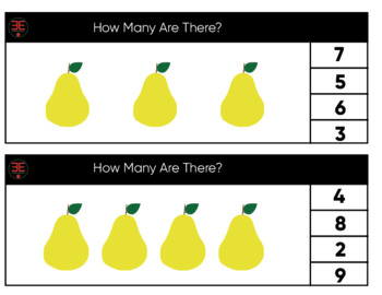 Pear Number Clip Cards