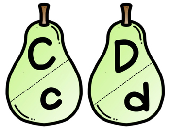 Pear Pairs for Letter Identification