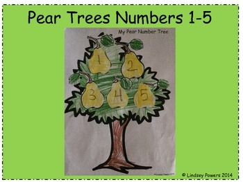 Pear Trees Numbers 1-5