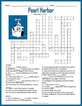 Pearl Harbor Crossword Puzzle