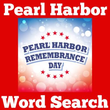 Pearl Harbor Worksheet | Pearl Harbor Activity | Pearl Harbor Word Search