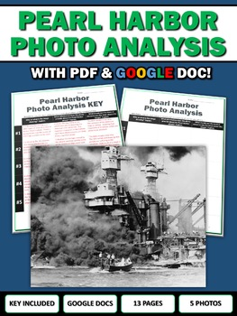 Pearl Harbor Attack - Photo Analysis Centers Activity (Google Doc Included)