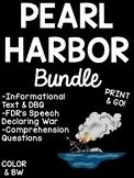 Pearl Harbor Bundle, Informational Text, DBQ, FDR's Speech, Reading Comp.