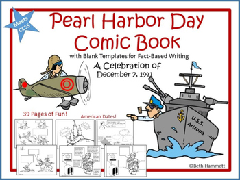 Pearl Harbor Comic Book and 25 Activities Bundle
