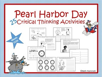 Pearl Harbor Day Activities By Beth Hammett The Educator Helper Tpt
