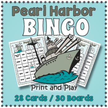 Pearl Harbor Day Bingo Game