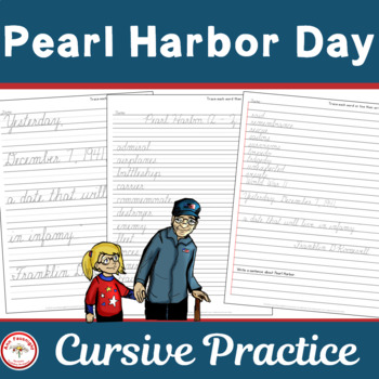 Pearl Harbor Day Cursive Practice