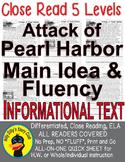 Pearl Harbor Close Reading 5 Level Passages MAIN IDEA FLUE