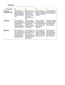 Pearl Harbor Journal Activity with Scoring Rubric
