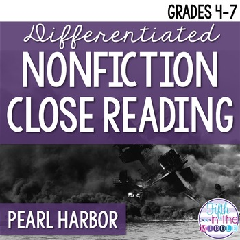 Pearl Harbor Nonfiction Close Reading Comprehension Passages and Questions