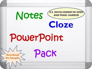 Pearl Harbor Pack (PowerPoint, Notes and Cloze Sheets)