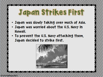 Pearl Harbor PowerPoint and Notes Set